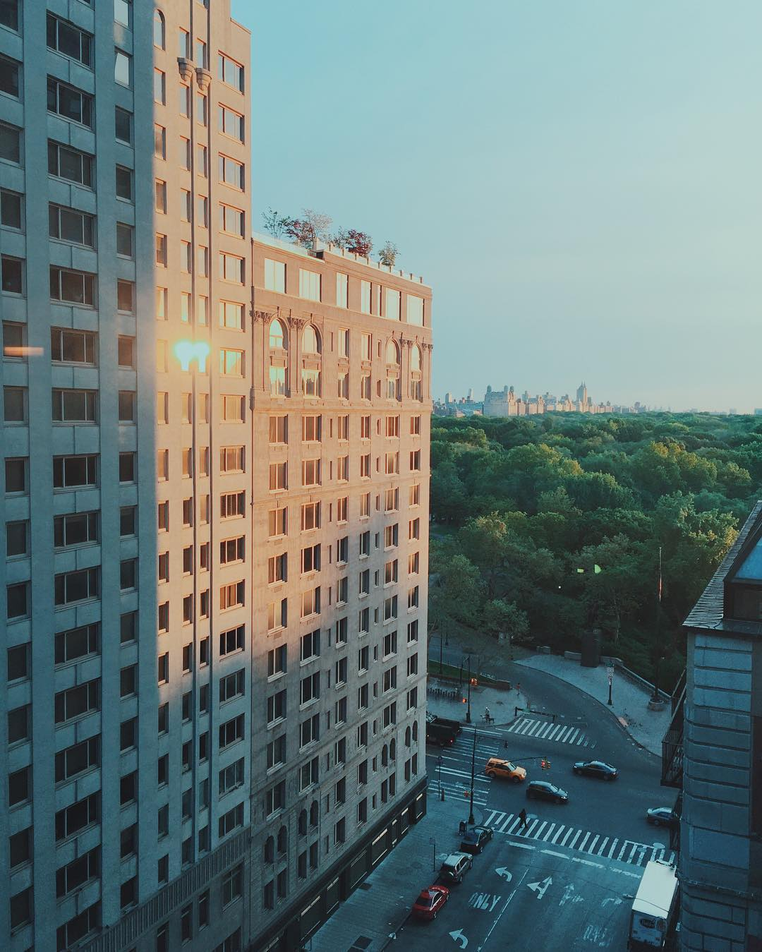 Morning from 1 Hotel Central Park